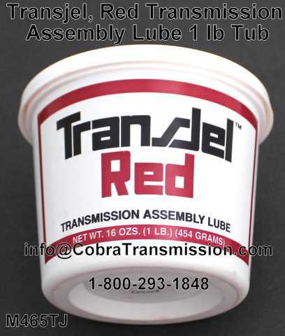 Transjel, Red Transmission Assembly Lube 1 lb Tub