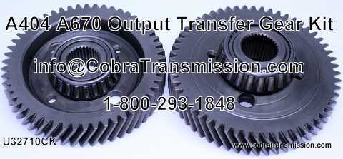 A404 - A670 Output/Transfer Gear Kit