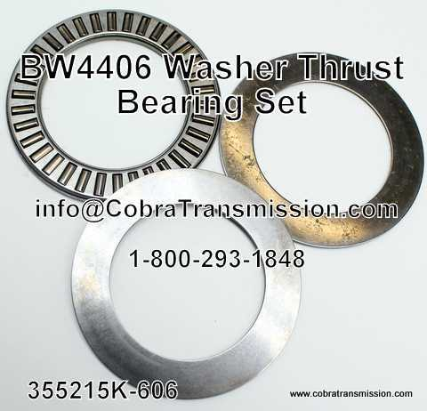 BW4406, BW4416 Washer Thrust Bearing Set