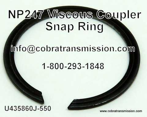 NP247 Snap Ring - Viscous Coupler
