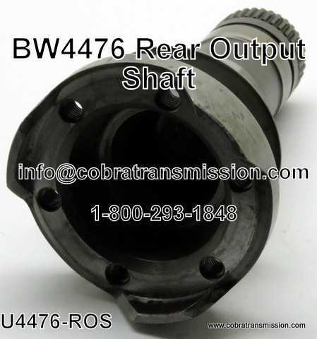 BW 4476, Rear Output Shaft