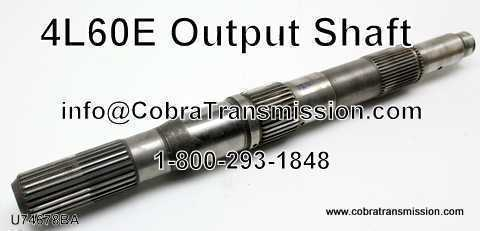 "4L60/65E, Output Shaft, 4L60E, 4L65E 13.250"" Long (4wd)"