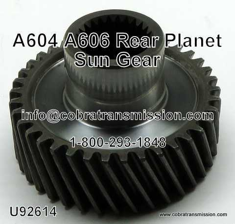 A604, A606, 62TE Sun Gear, Rear Planet