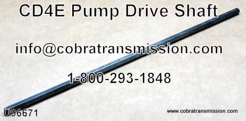 CD4E, Shaft, Pump Drive