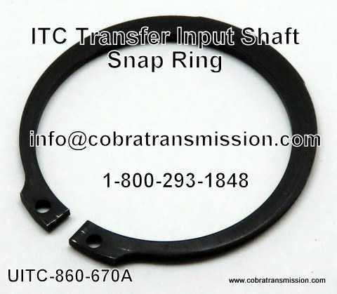 ITC Transfer Snap Ring - Input Shaft